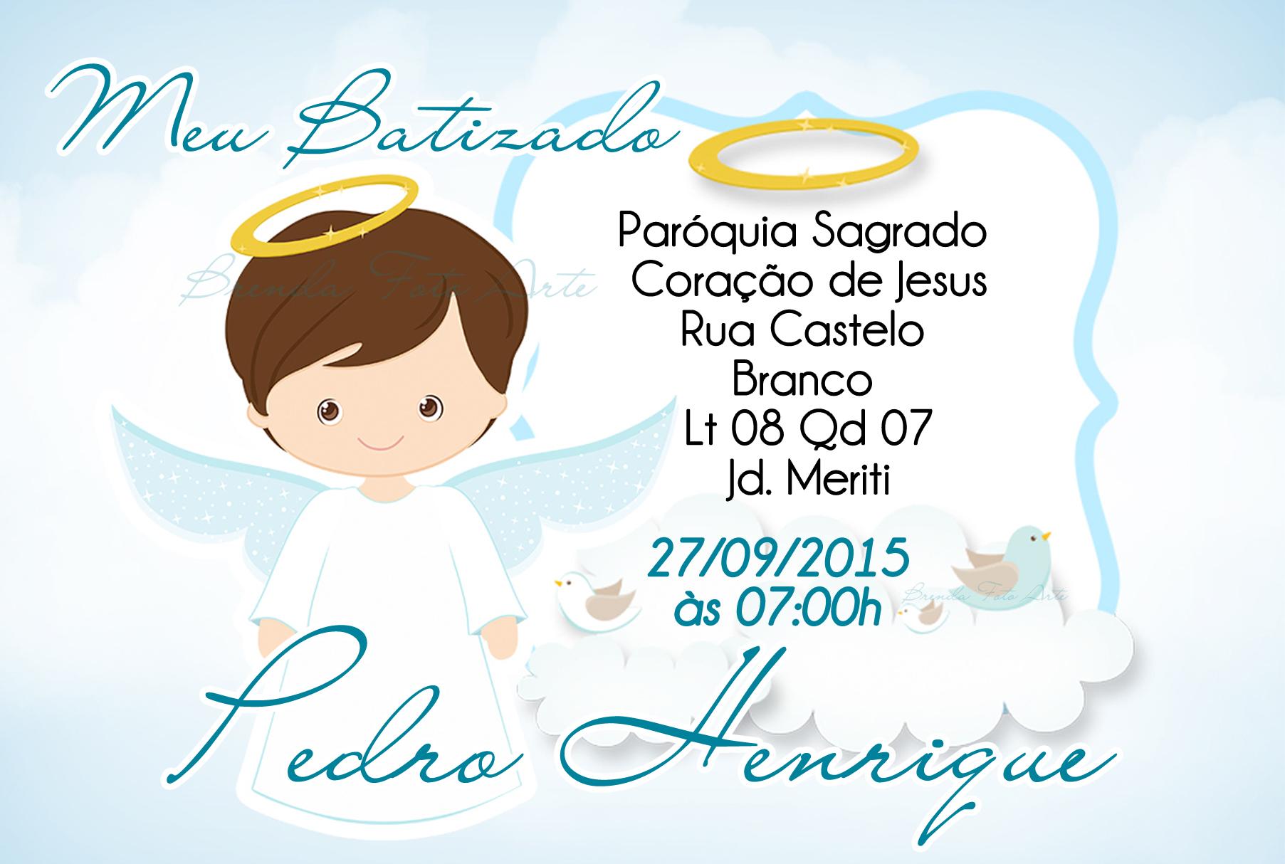 Convite Batizado Menino No Elo7 Brenda Foto Arte 5b068b