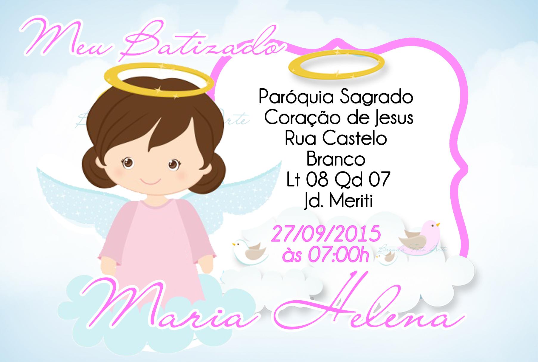 Convite Batizado Menina No Elo7 Brenda Foto Arte 5b06b3