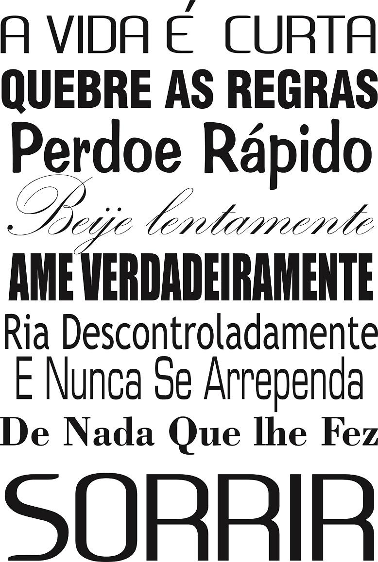 Adesivo Decorativo Frases A Vida é Curta No Elo7 Gaudesivos 5b1314