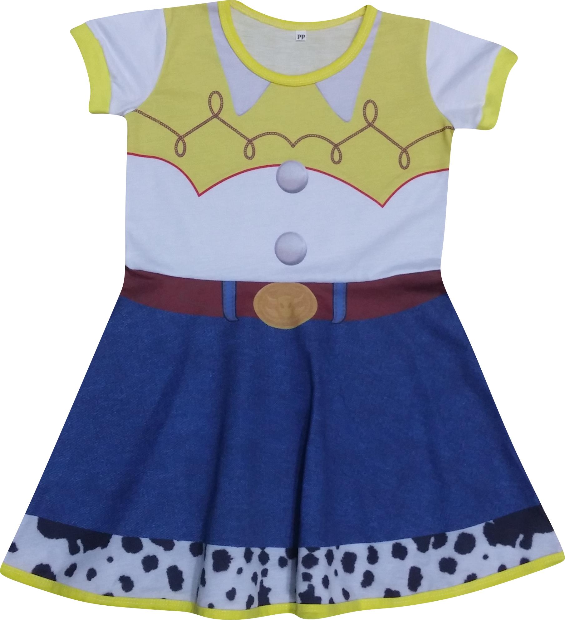 Vestido Infantil da Jessie (Toy Story) no Elo7  7d15faf8099