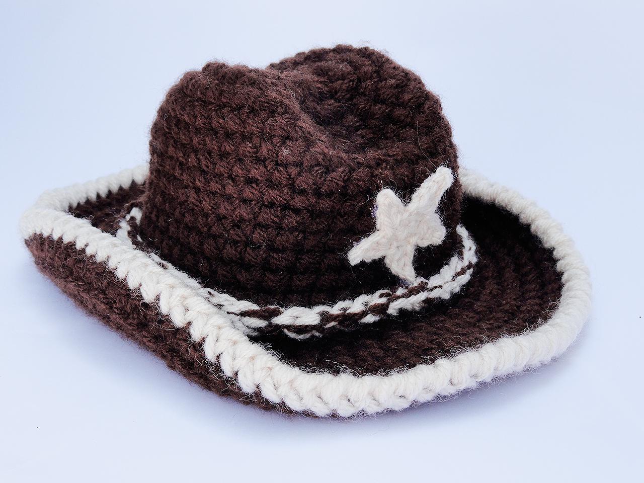 Chapeu Cowboy e Cavalinho Newborn de Croche  29aeb7f84cc