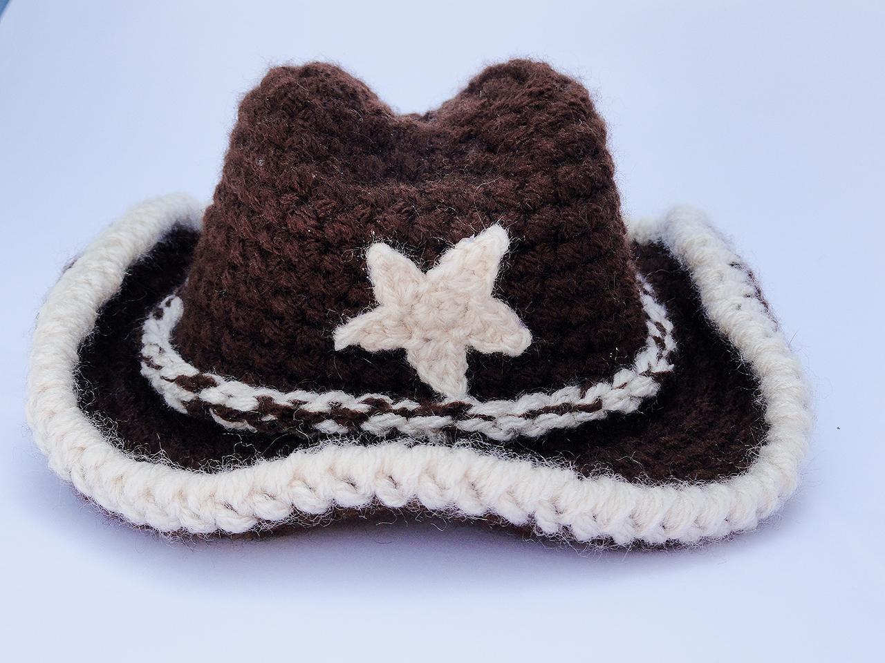 c24aa889584fd Chapéu Cowboy Newborn no Elo7