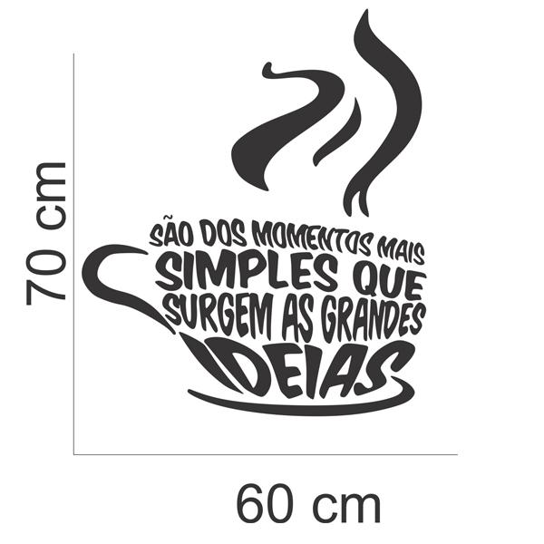 Preferência Adesivo Parede Café Frases Xícara Ideias no Elo7 | Inove Brindes  GU47