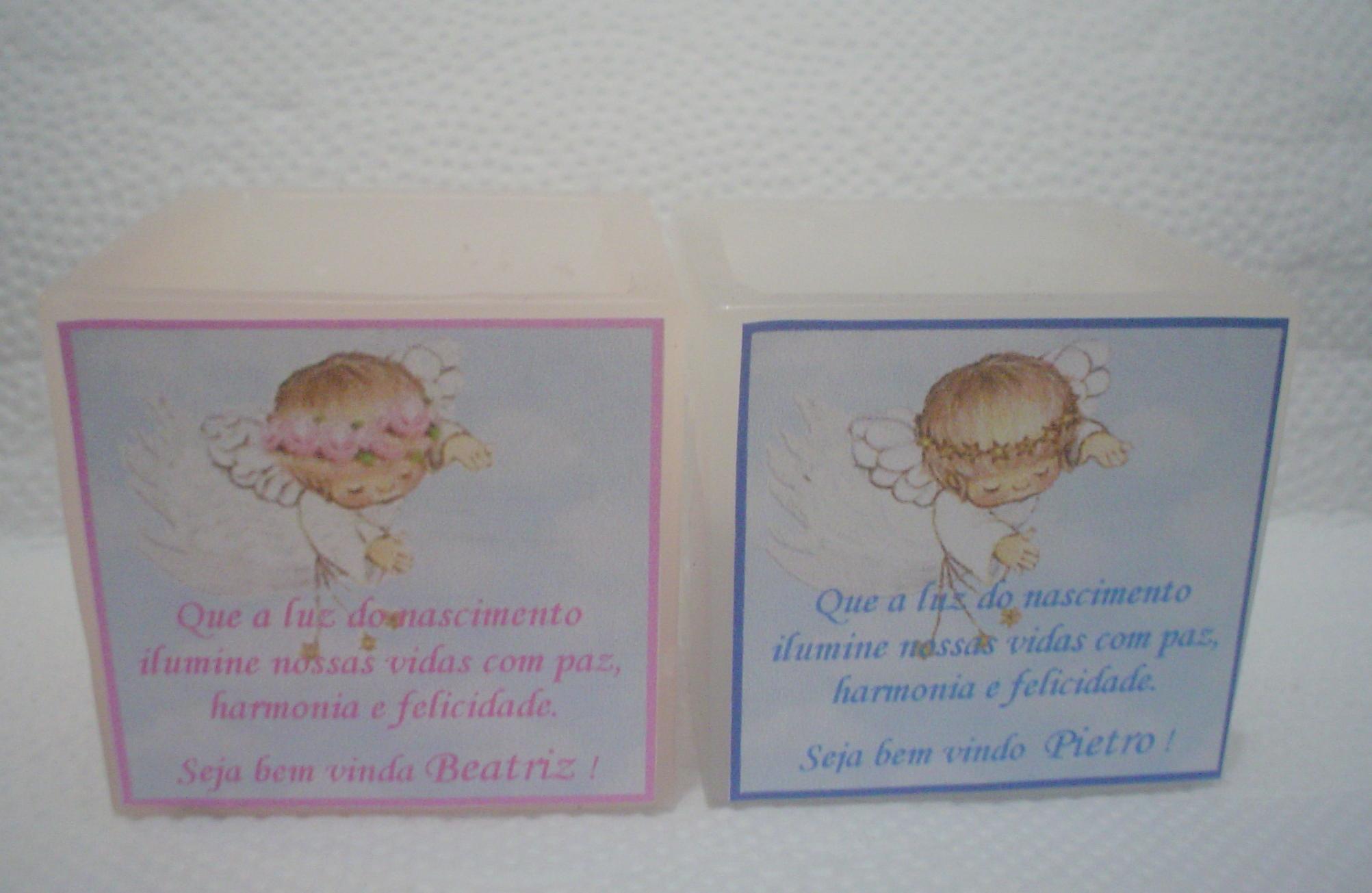 Muito kit 10 Lembrancinhas de bebê-Anjinho chegando no Elo7 | Velas  UU62