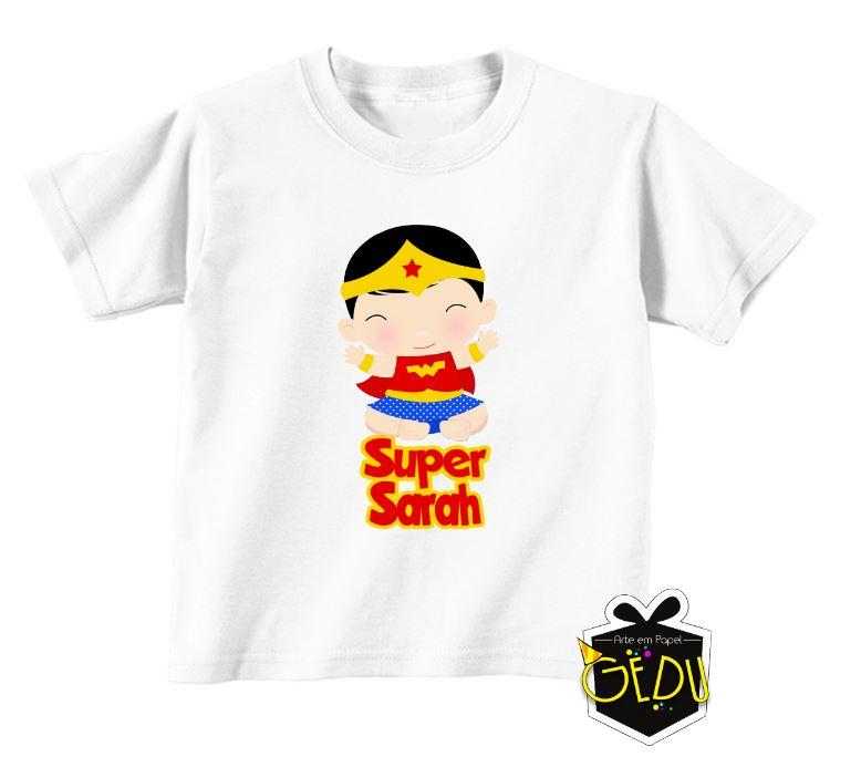 bbca15b1a3 Camiseta Personalizada Mulher Maravilha no Elo7