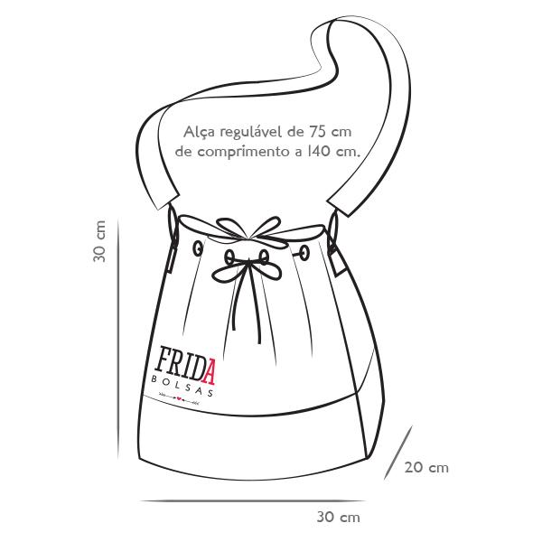 5a4894a386aae Bolsa Saco Bucket Artesanal de Tecido no Elo7