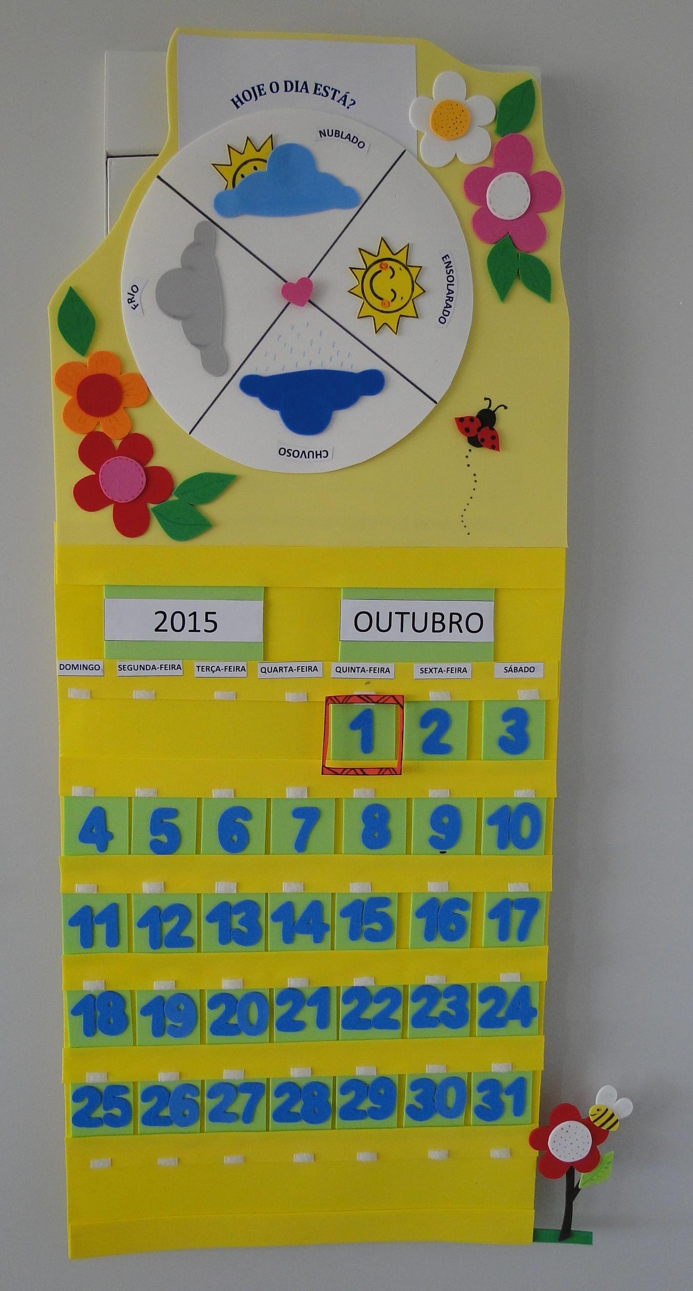 Extremamente Calendário + Tabela do Tempo em EVA no Elo7 | EVA SOB MEDIDA (5ABF89) HX03