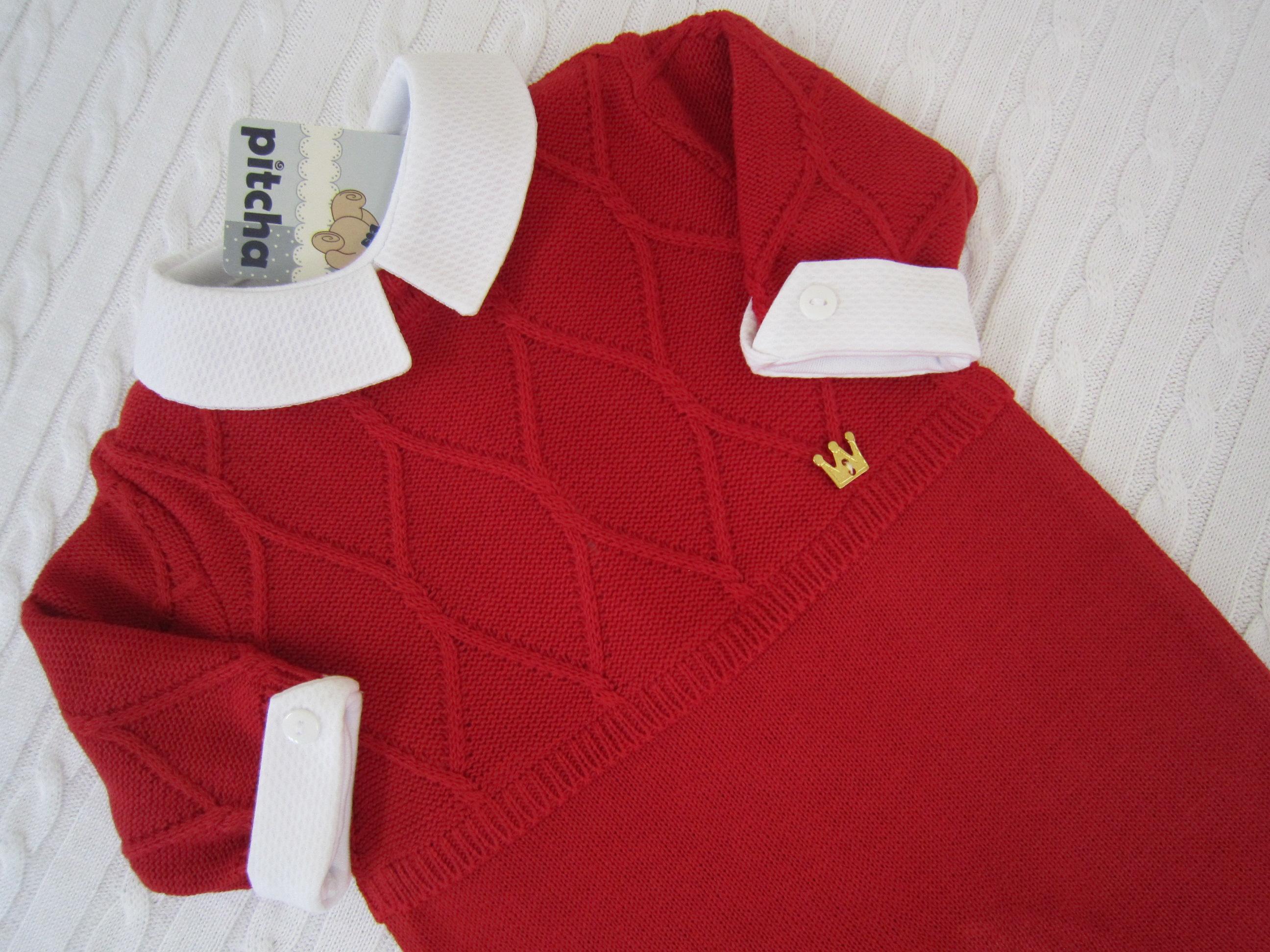 Macacão Vermelho para Bebê com Body  RN no Elo7  f9d349e0bd6