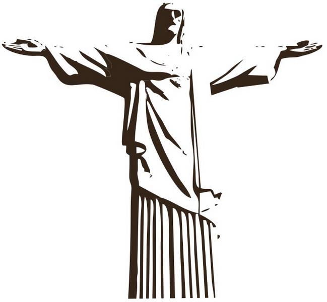 Excepcional Adesivo Decorativo Cristo Redentor no Elo7 | Vem Decorar - Artigos  EQ92