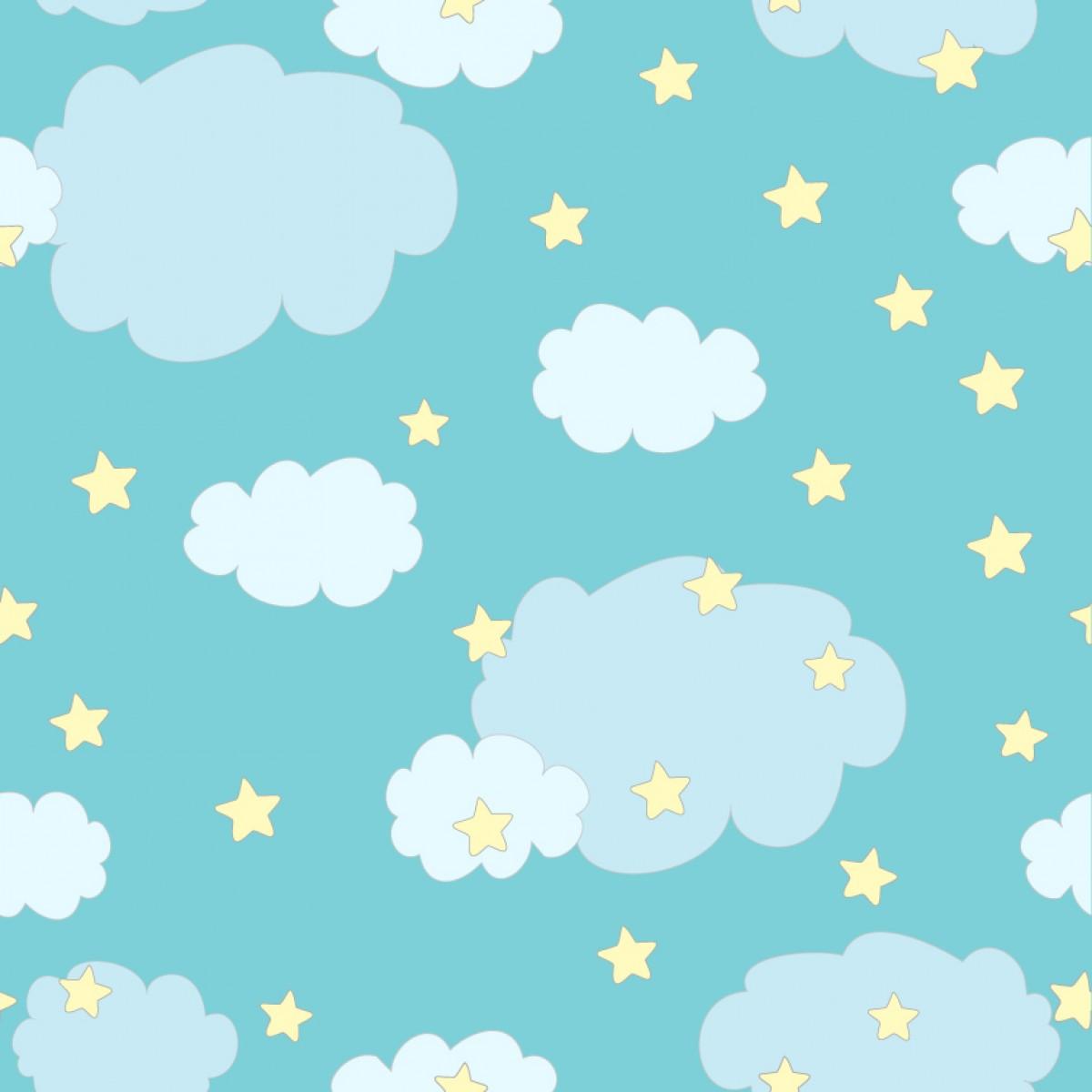 Artesanato Brasileiro Em Sp ~ Papel de parede Nuvens Decor 01 Crie Decore Elo7