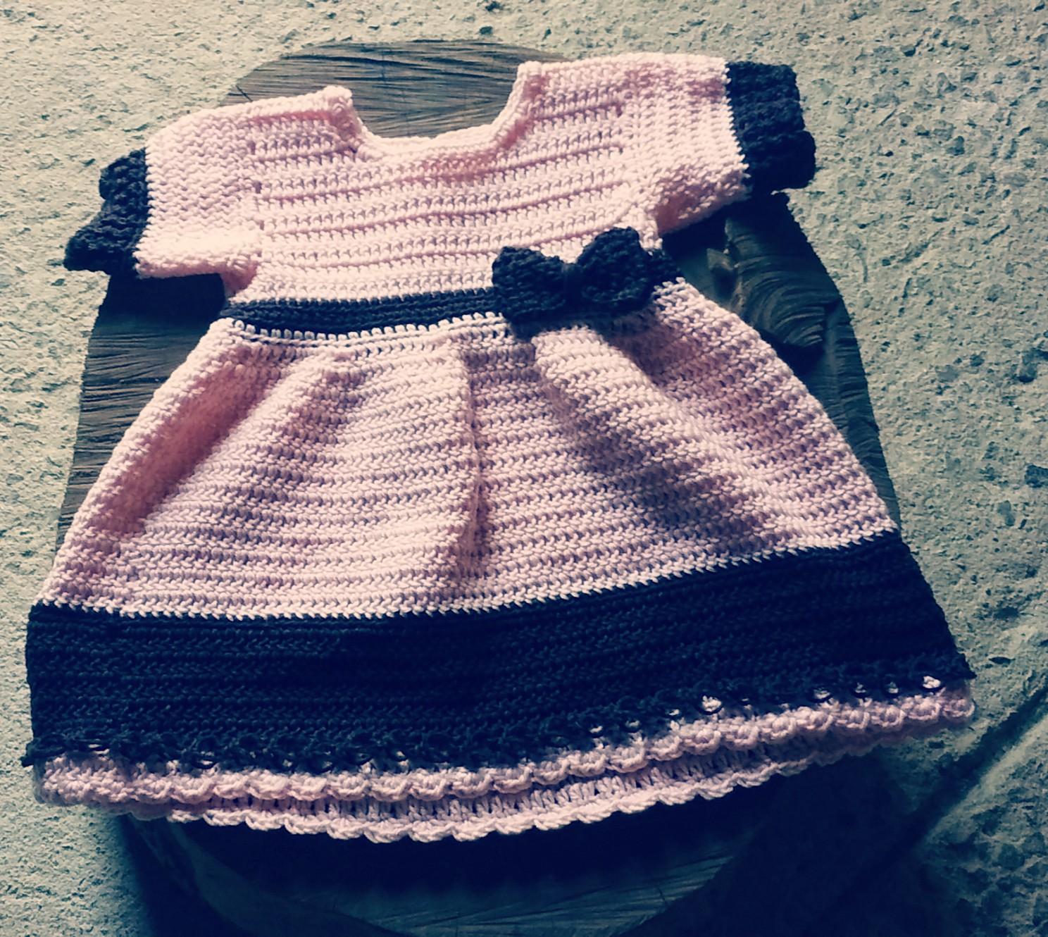 17e536ead9e1 Vestido em Croche para Menina 3 Anos | Elo7