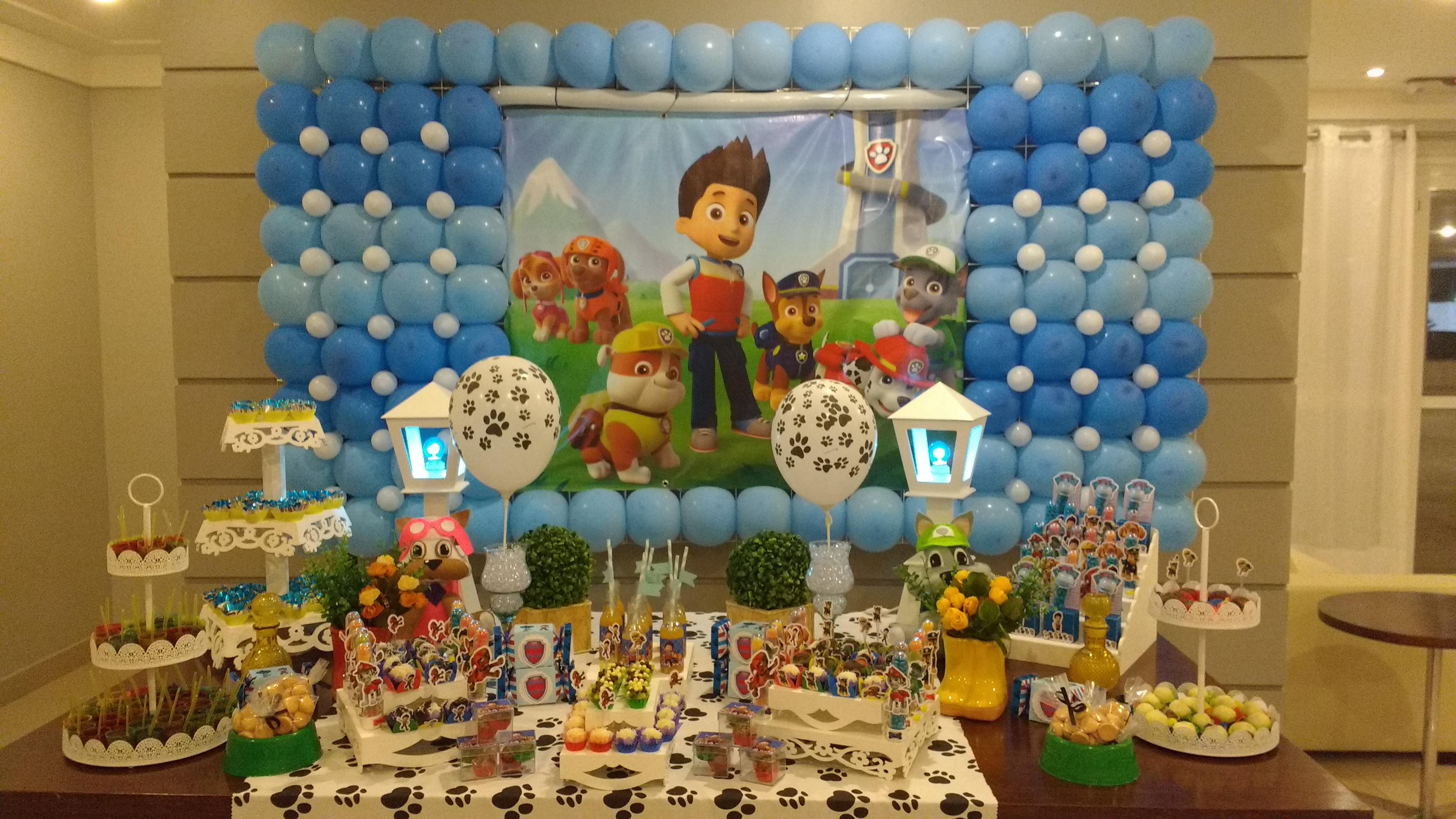Festa Infantil - Patrulha Canina | Andréa e Artes | Elo7