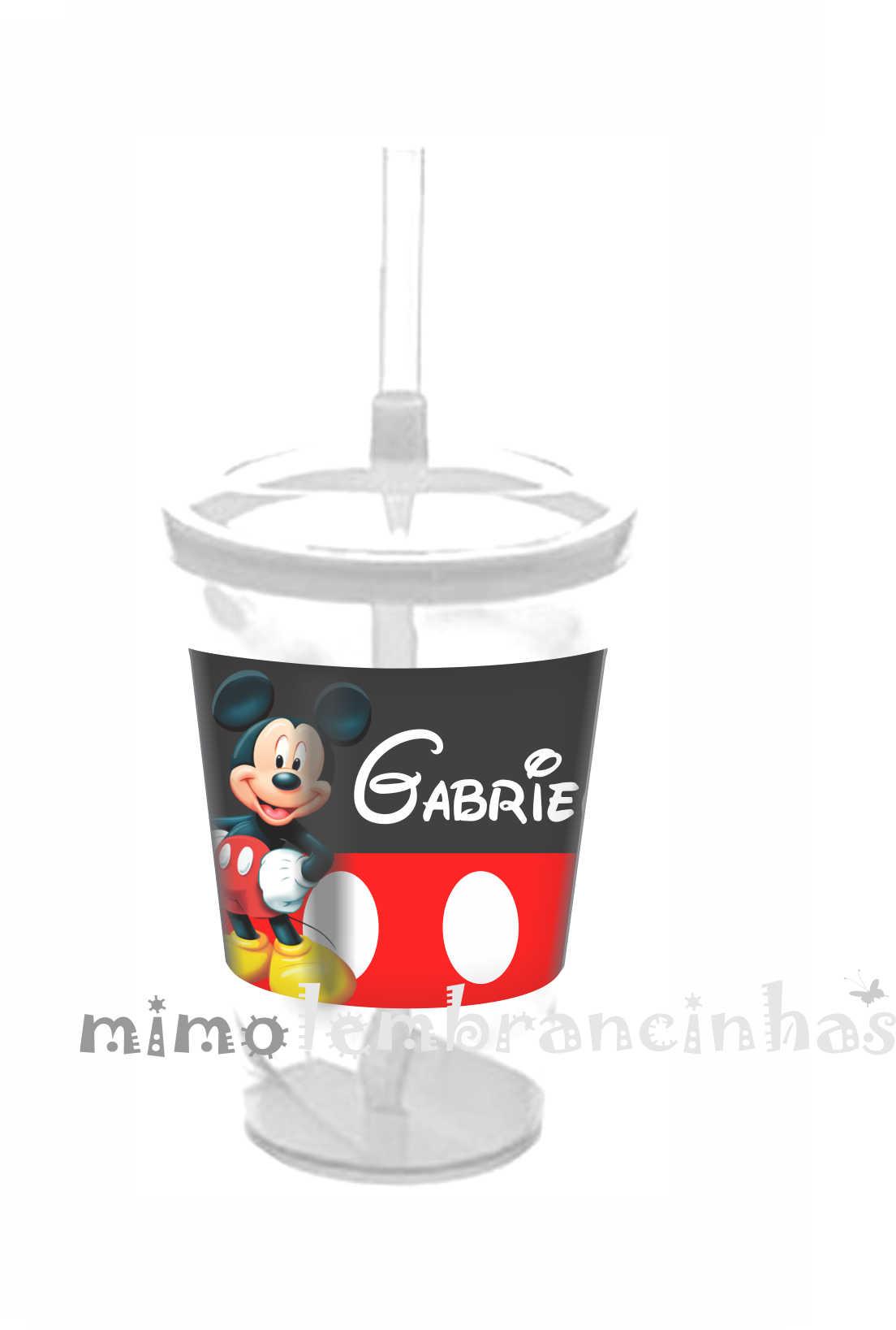 6713a754ae Copo Canudo Infantil Mickey