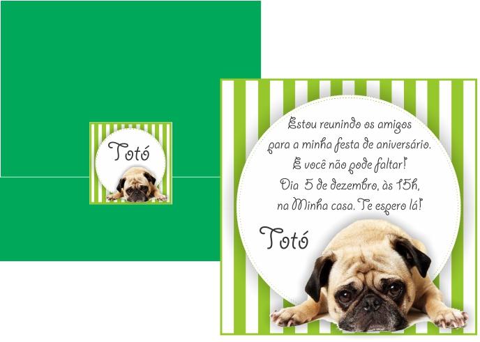 Convite De Aniversário De Cachorro