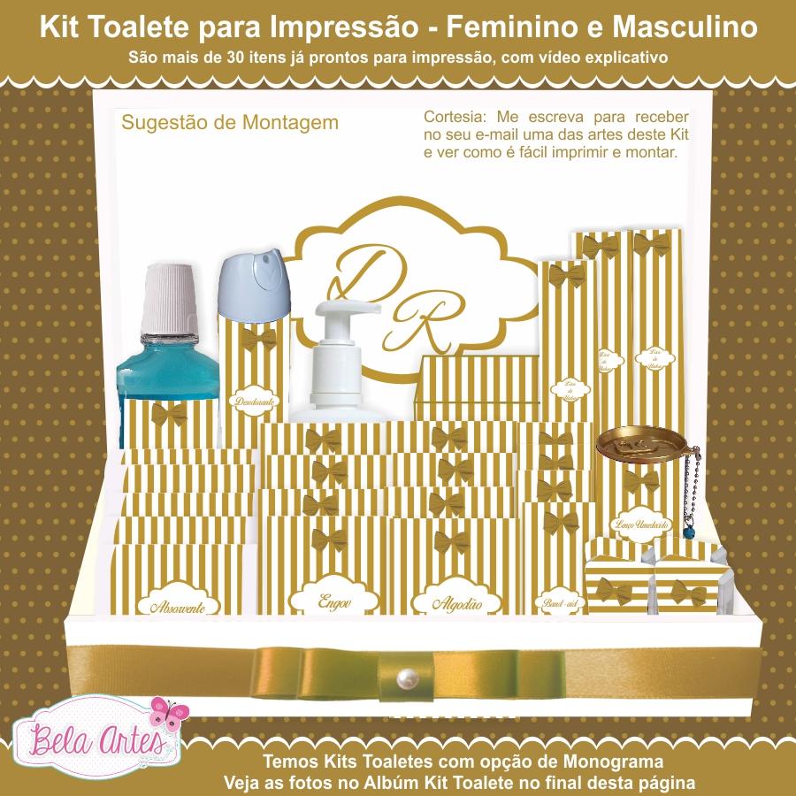 Kit Toalete Para Imprimir Sem Monograma No Elo7 Bela Artes
