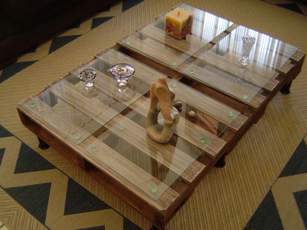 Mesa de centro de pallet ophicina wood art elo7 - Mesa centro palet ...