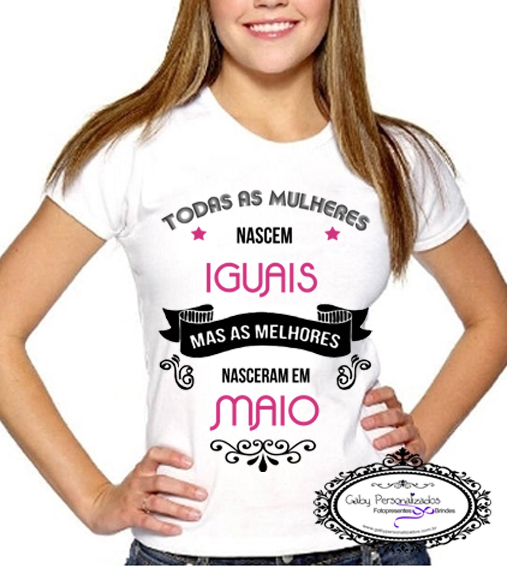 Camiseta Toda Mulher Nasce Igual No Elo7 Gaby Personalizados 5d63eb
