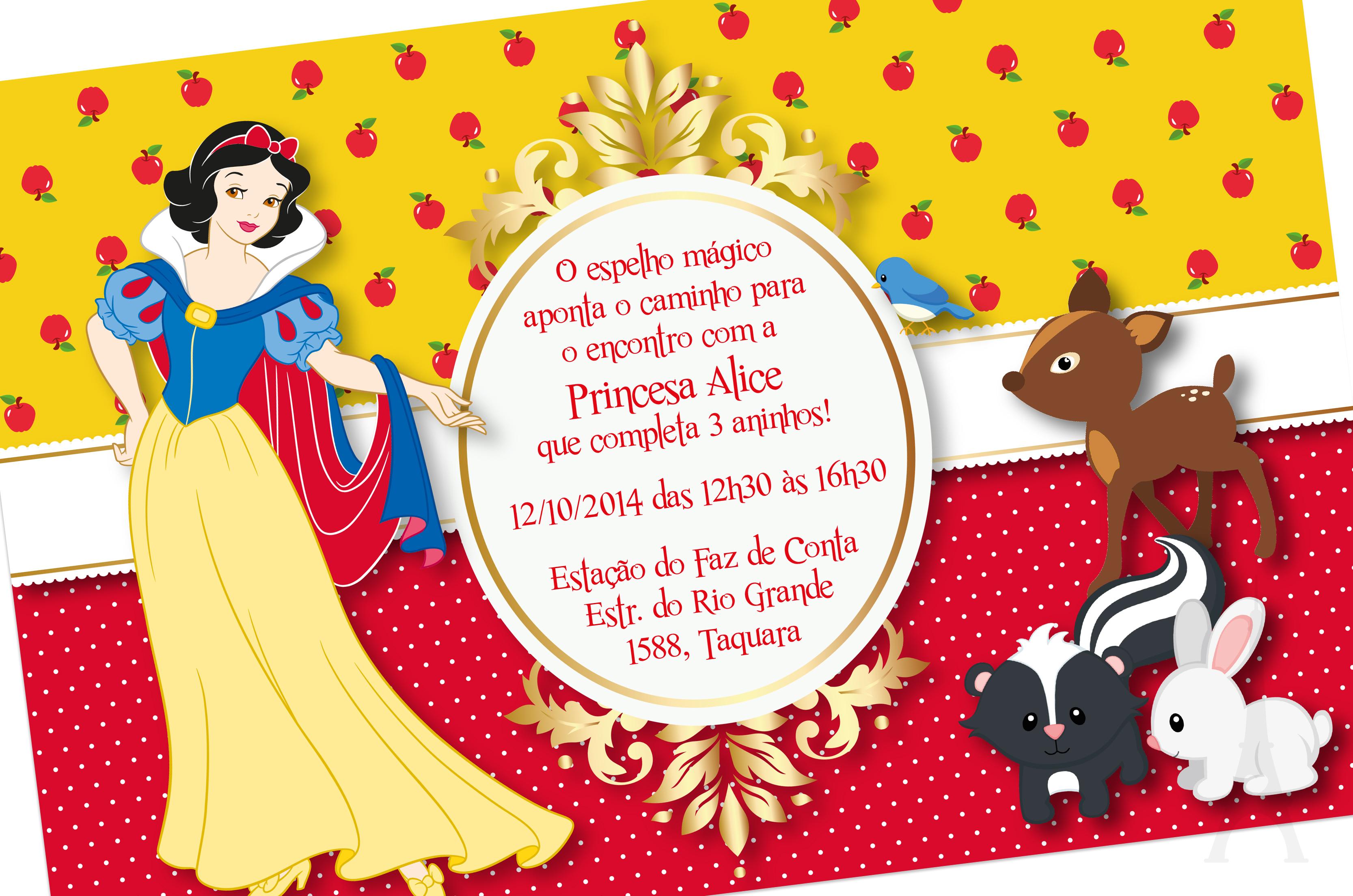Convite Branca De Neve No Elo7 Armondesign 5d7ec0