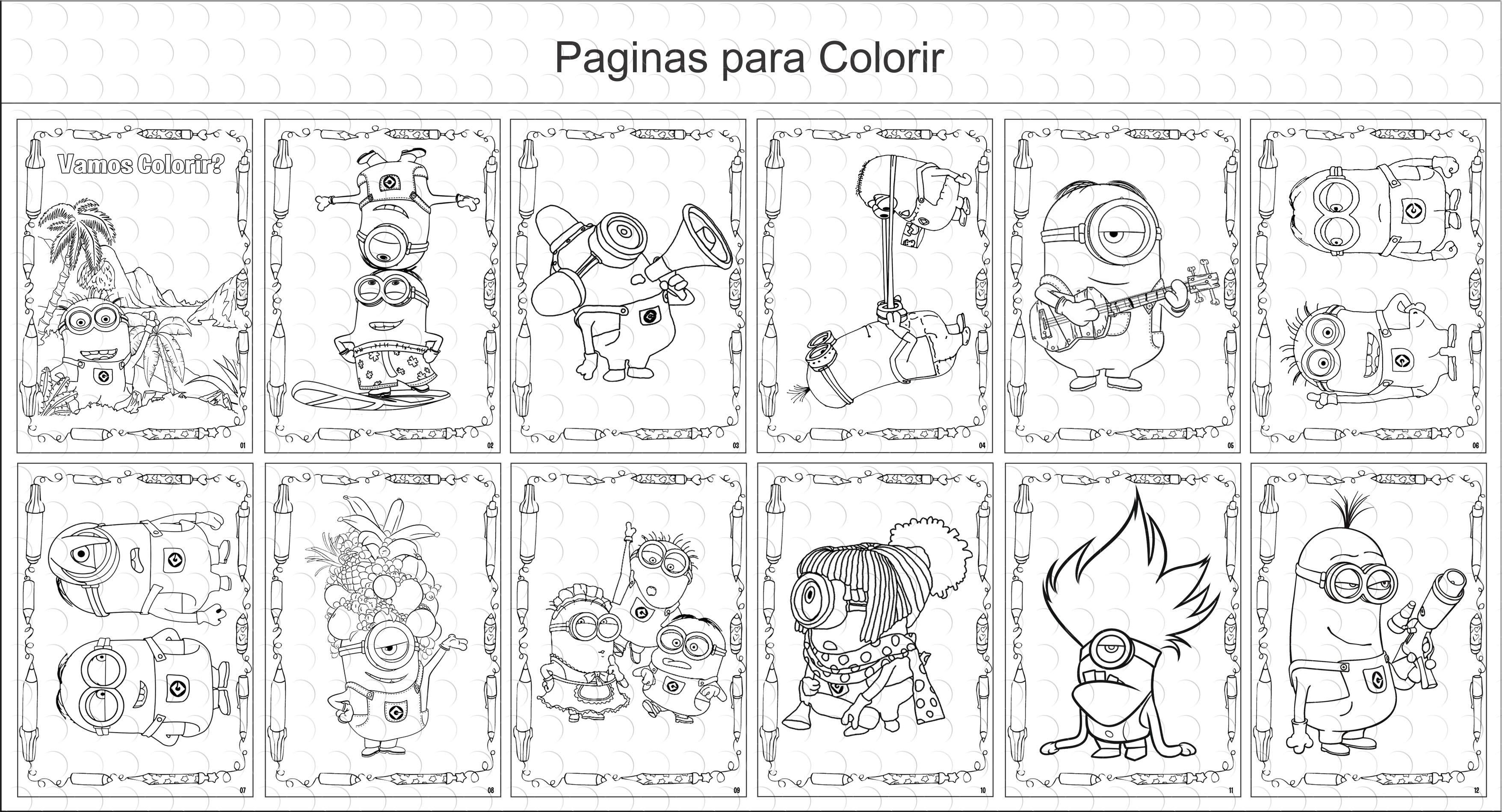 Livros Para Colorir - Minions