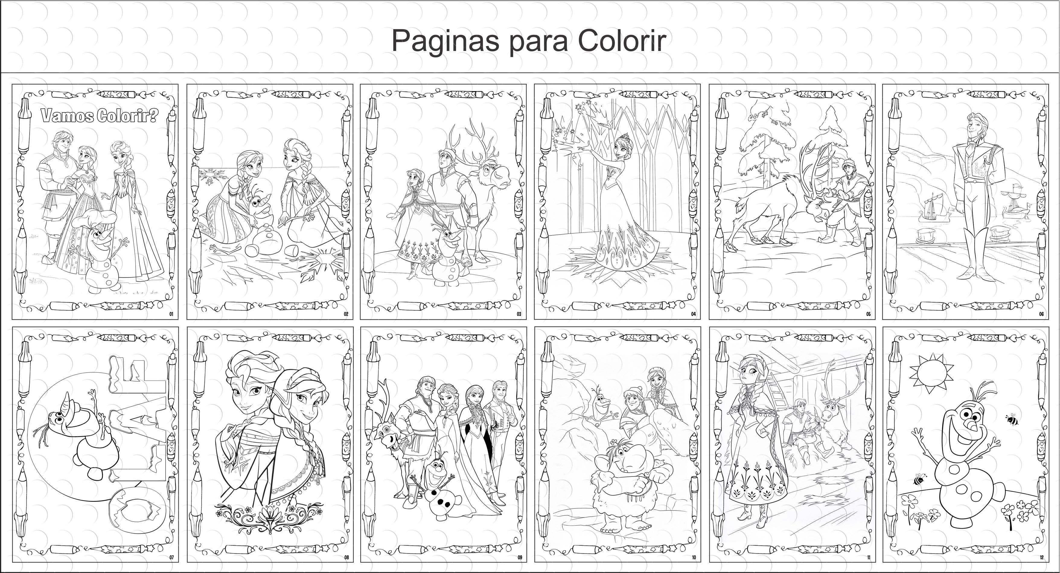 Livros Para Colorir Frozen