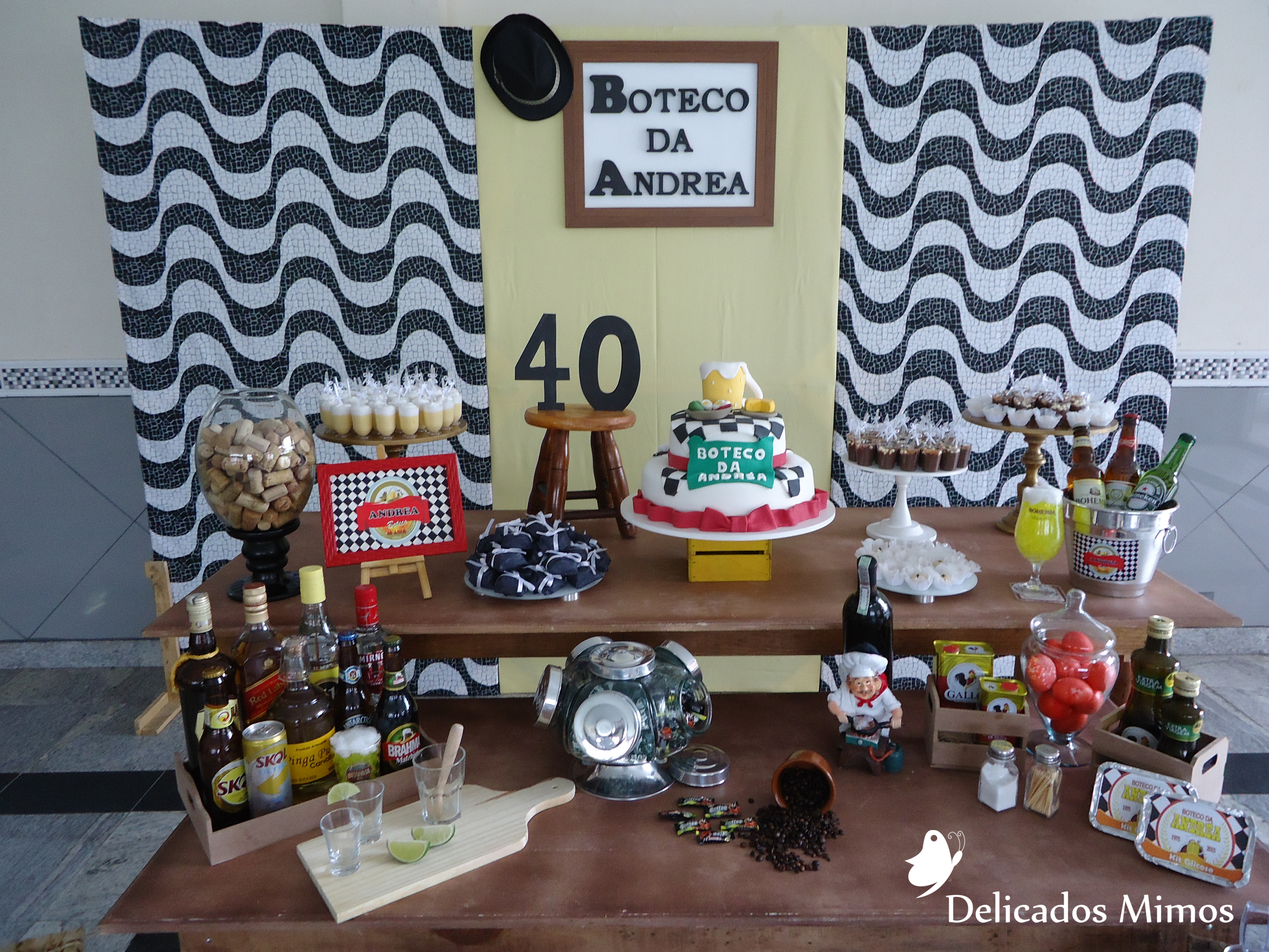 Decoraç u00e3o Tema Boteco II Delicados Mimos RJ Elo7