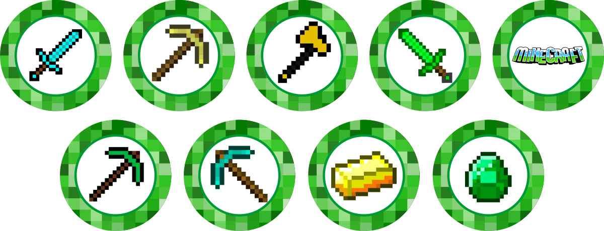Armario Esquinero Conforama ~ Minecraft 25 Topper Adesivo Marga Brindes Elo7