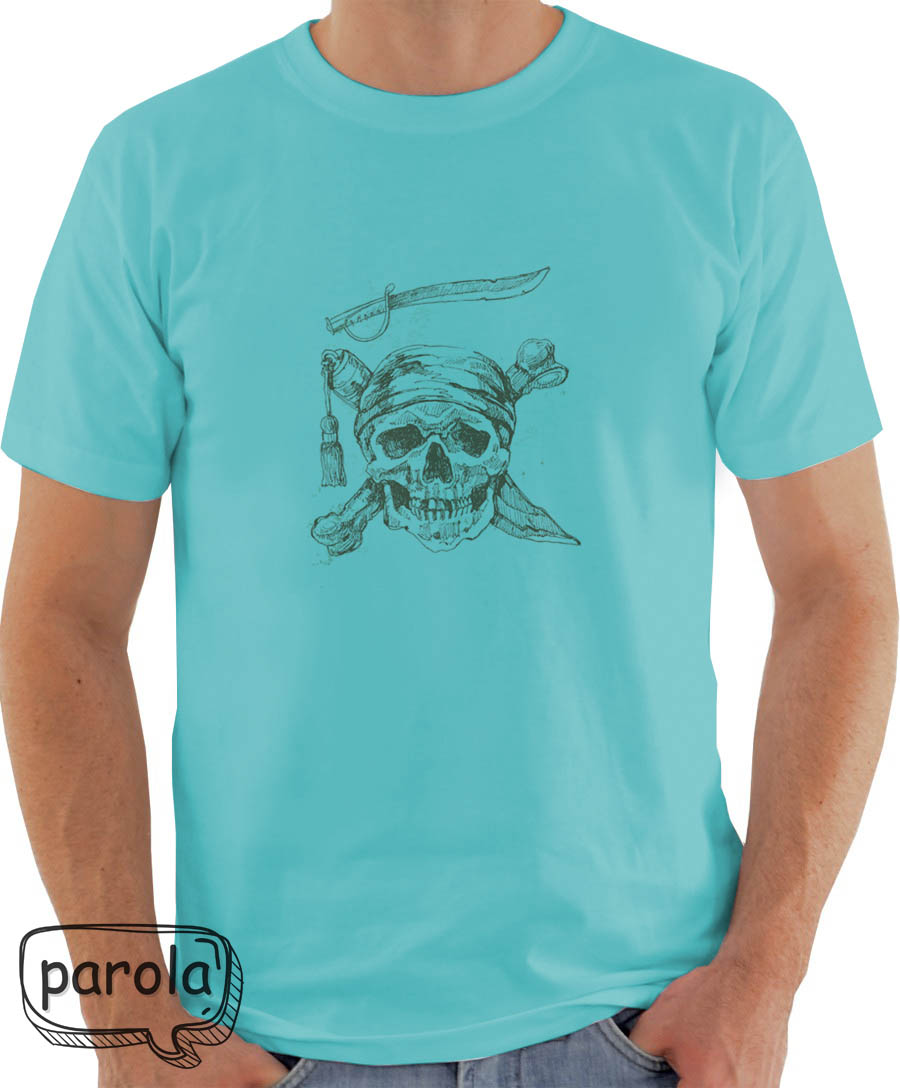 Camiseta Ou Baby Look Caveira Pirata  43c0d960789