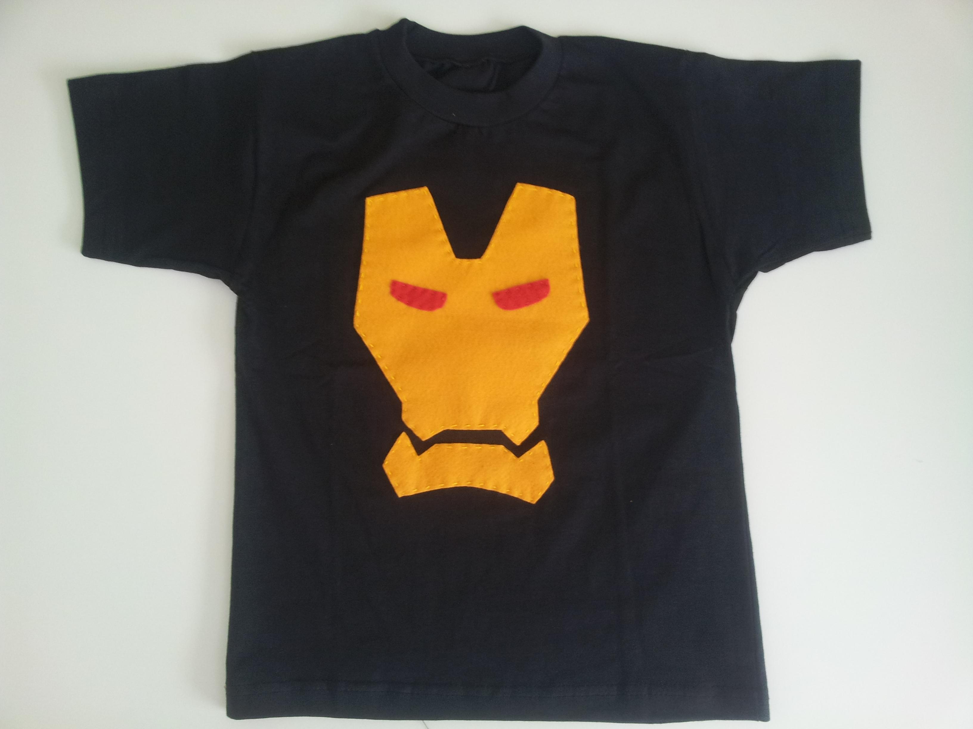 28e70c715 Camiseta Camisa Blusa Homem de Ferro