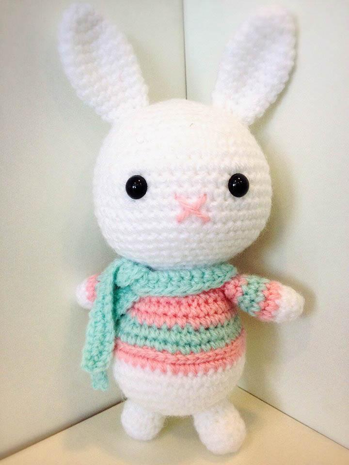 Coelho Amigurumi Receita : Amigurumi coelho rosa bunny gurumi porinn gurumis