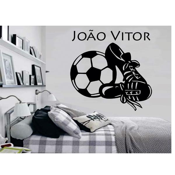 Adesivo de Parede Futebol Bola Chuteira  33a84ce568d61