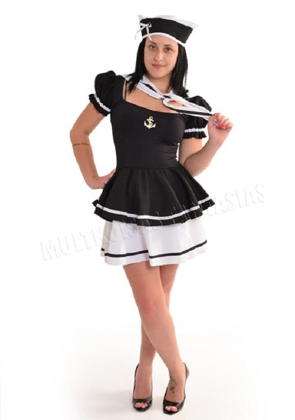 46b78d0ee Fantasia Marinheira Adulto Estrela no Elo7