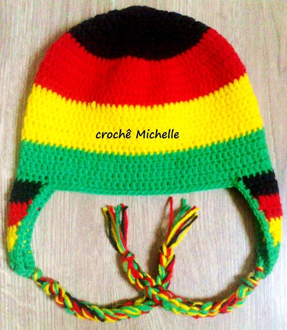 Gorro Touca Reggae Jamaica de Croche  5941583eed8