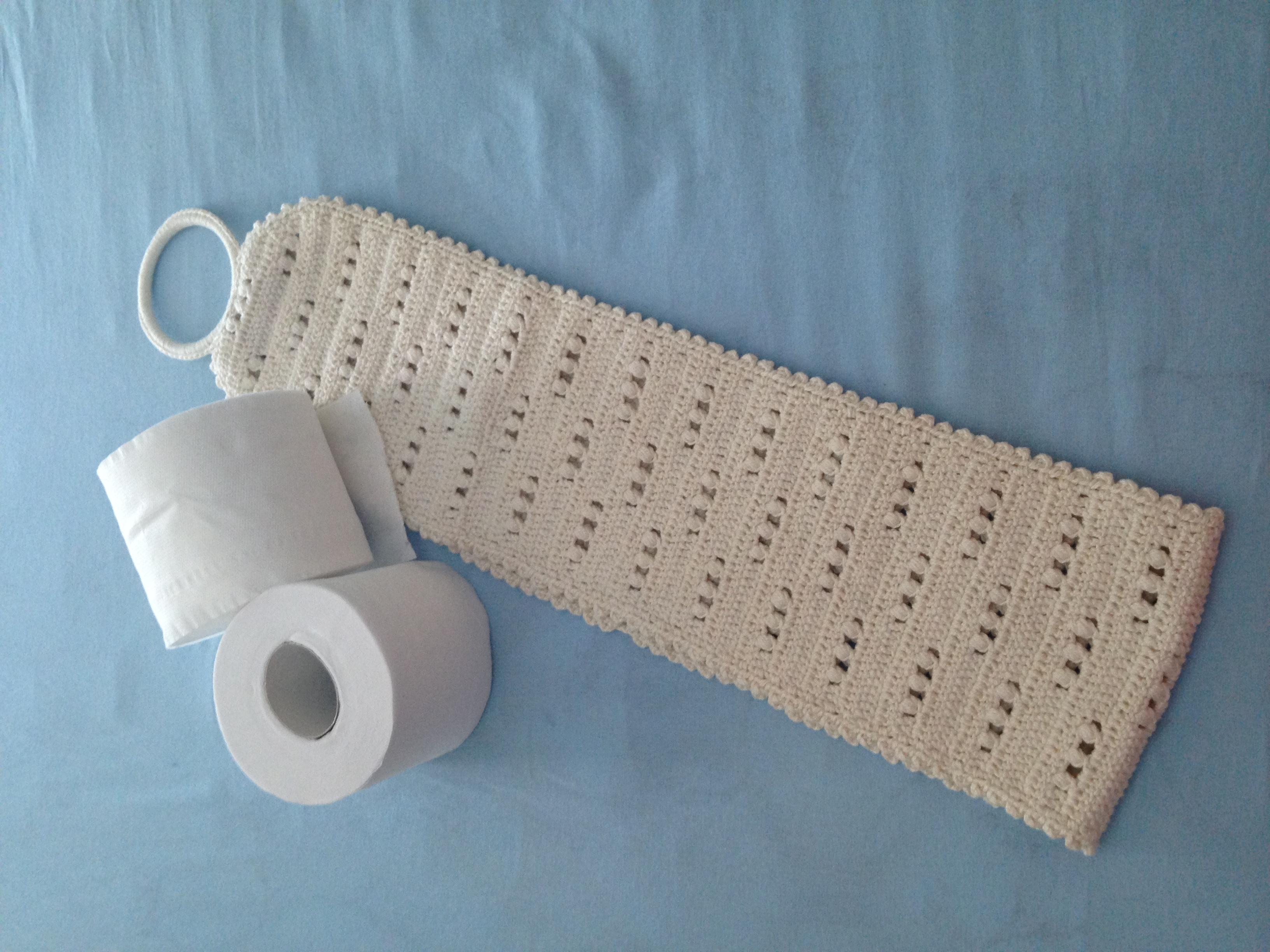 #426E89 Porta Papel Higiênico em crochê No Tempo da Vovó Elo7 3264x2448 px Banheiro Higienico Para Caes 3019