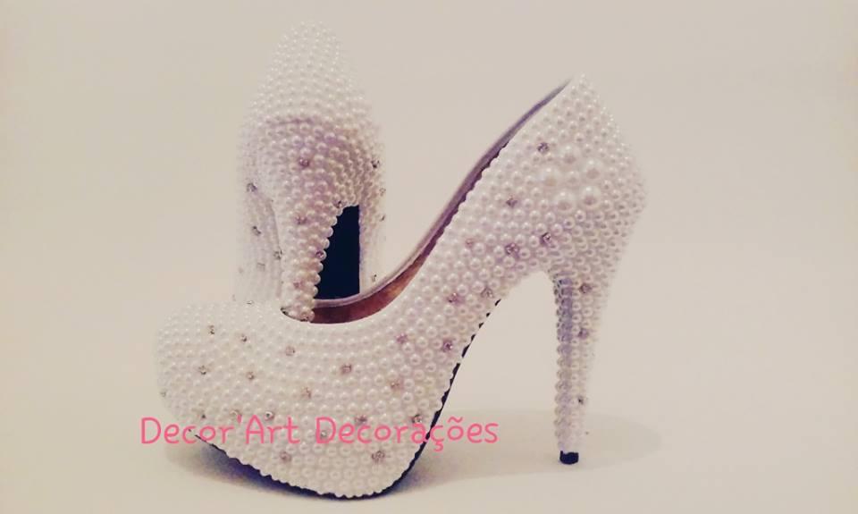 7c4f20b63 Luxo Sapato Cristais Noiva Debutante Festa 15 Anos Perolas | Elo7