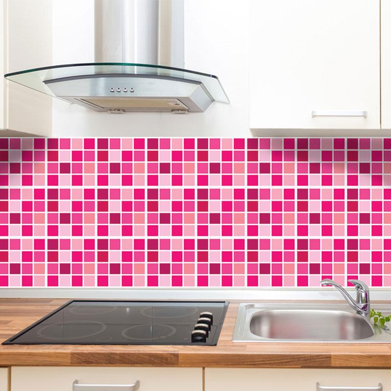 Adesivo Para Boca De Violão ~ Adesivo de Azulejo Pastilha Rosa Printme com br Elo7