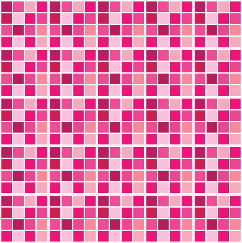 adesivo de azulejo pastilha rosa elo7