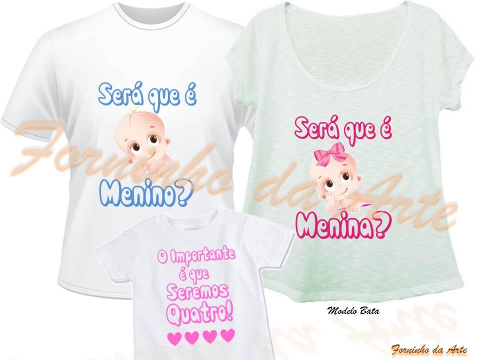 Camisetas Personalizadas Modelo Bata Kit No Elo7 Forninho Da Arte