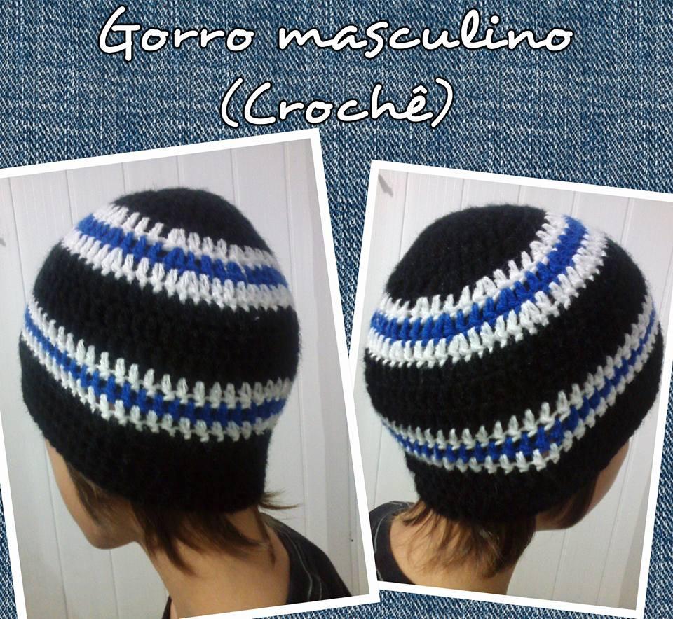 Receita de Gorro de Croche Masculino  d4aed64ae6d