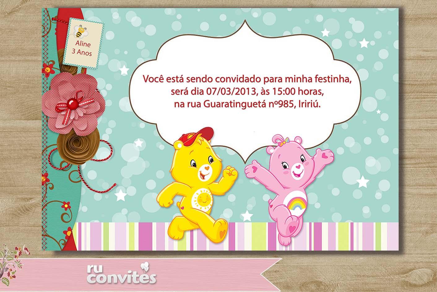 Convite Ursinhos Carinhosos 46