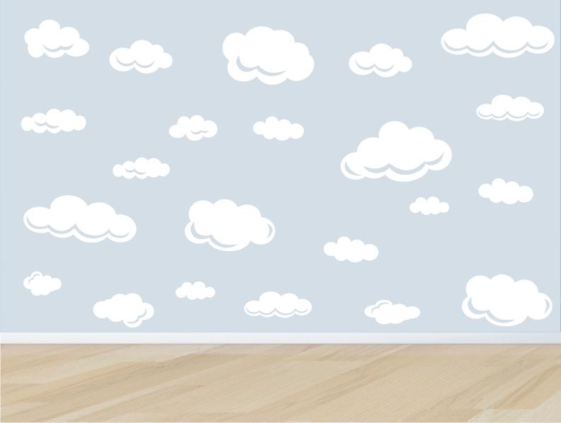 Artesanato Brasileiro Em Sp ~ adesivo parede infantil nuvem nuvens m03