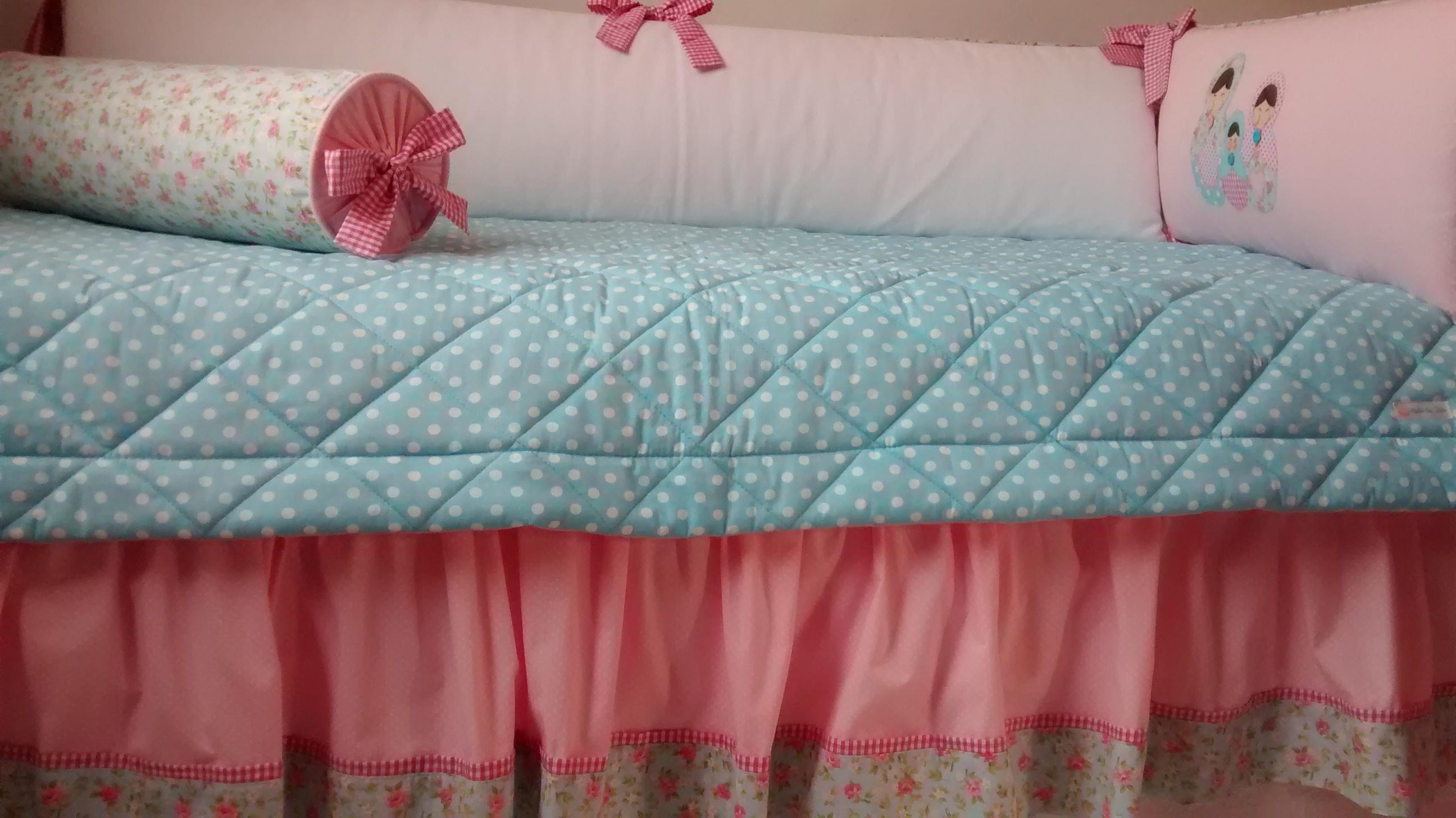 Populares Kit berço Matrioskas floral rosa e azul no Elo7 | Ateliê da Tuta  DC79