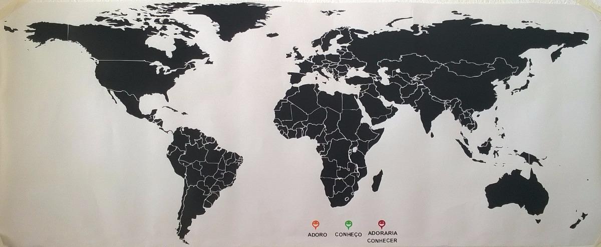 Adesivo De Parede Mapa Mundi 180 Cm X 90  Adesivos Sempre Viva  Elo7