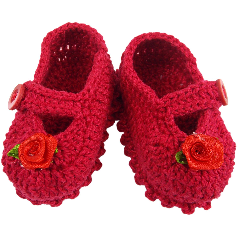 Sapatinho em Croche Azul Recem Nascido  19b72fd26a4