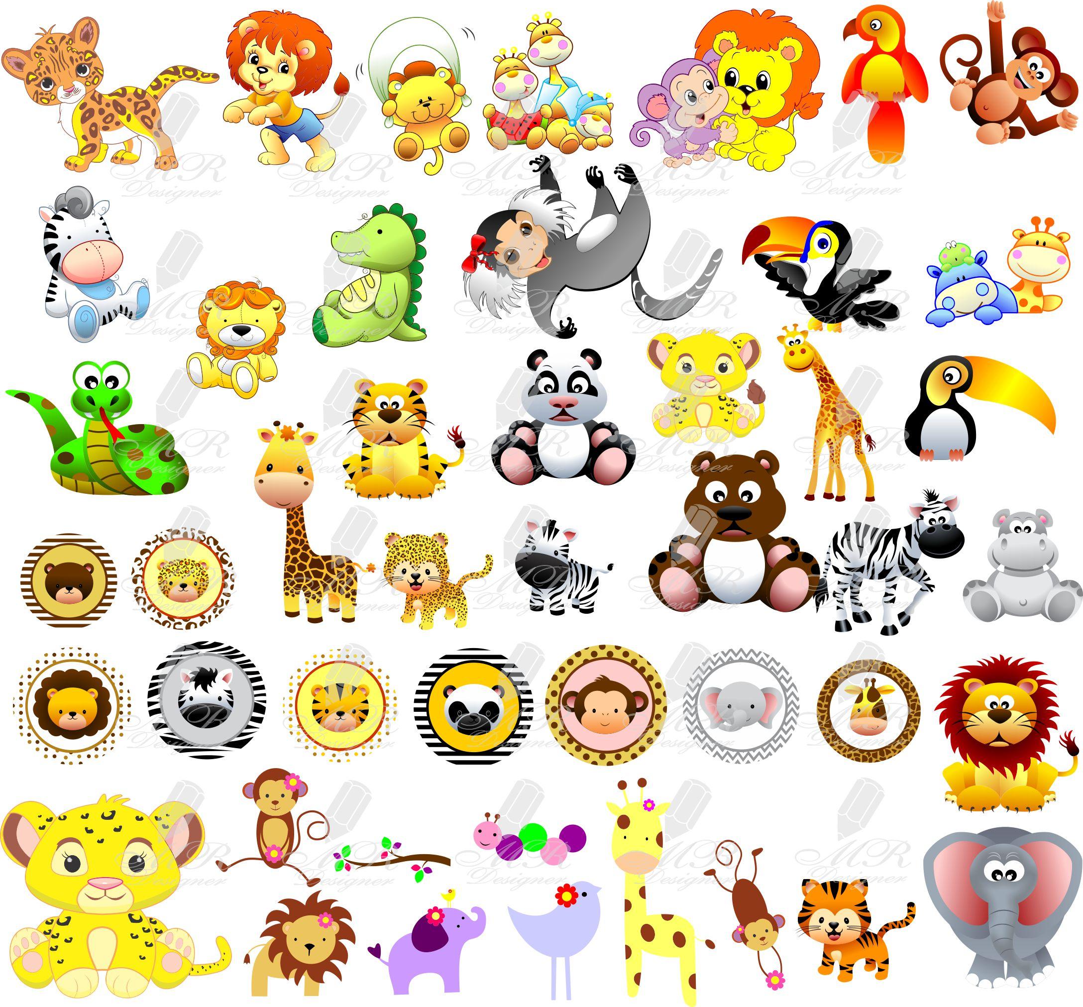 Safari Animais Vetores Imagens Png Corel Fazendinha No Elo7 Mr