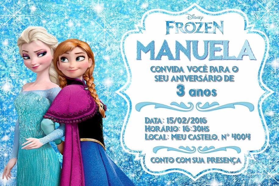 Convite Frozen | Le Personalizados Convites ...