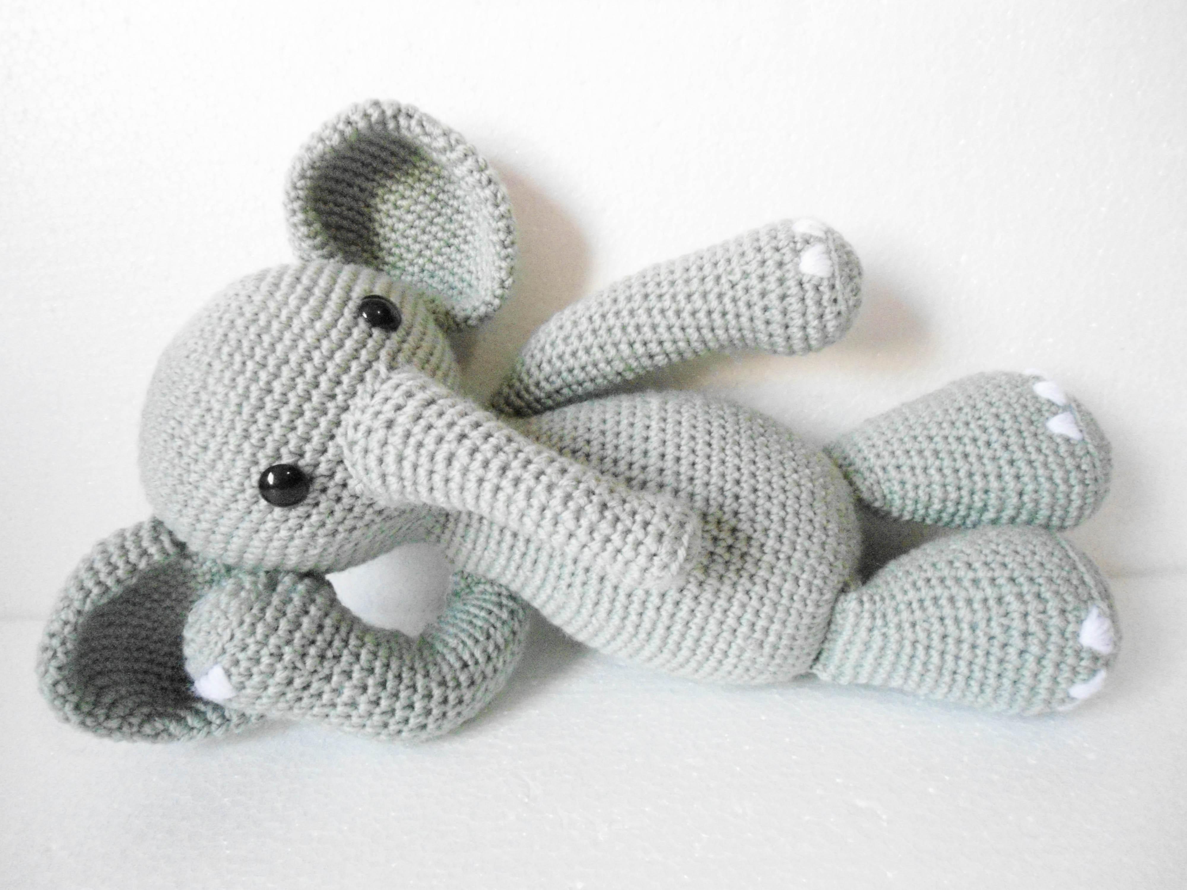 Amigurumi Elefante (Elephant Gurumi) Porinn Gurumis Elo7