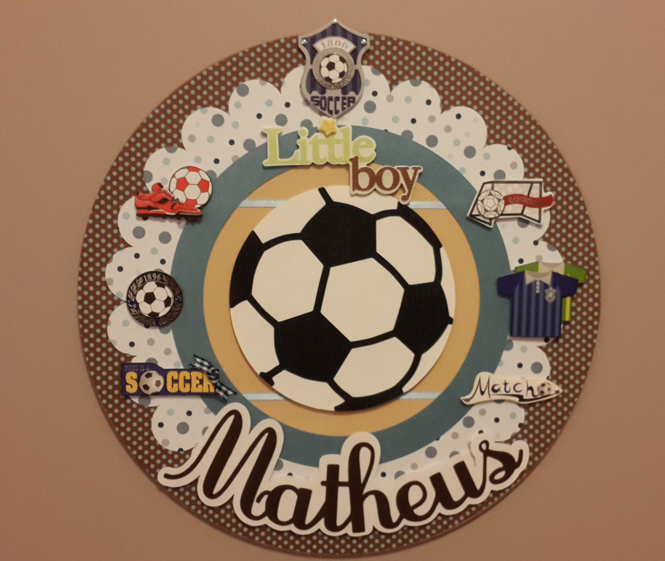 Enfeite Porta Maternidade Futebol   Elo7 46550fc173
