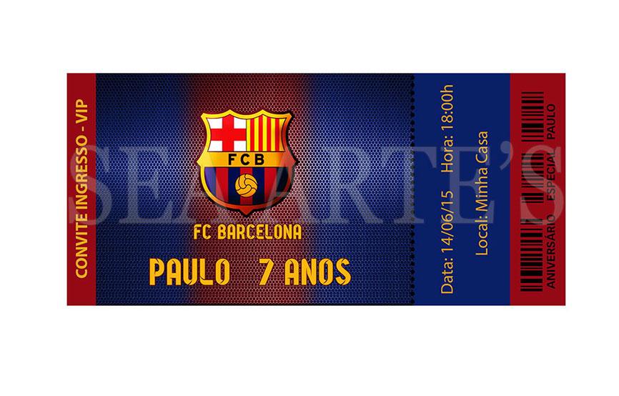 Convite Ingresso Futebol Barcelona No Elo7 Sea Artes 60b524