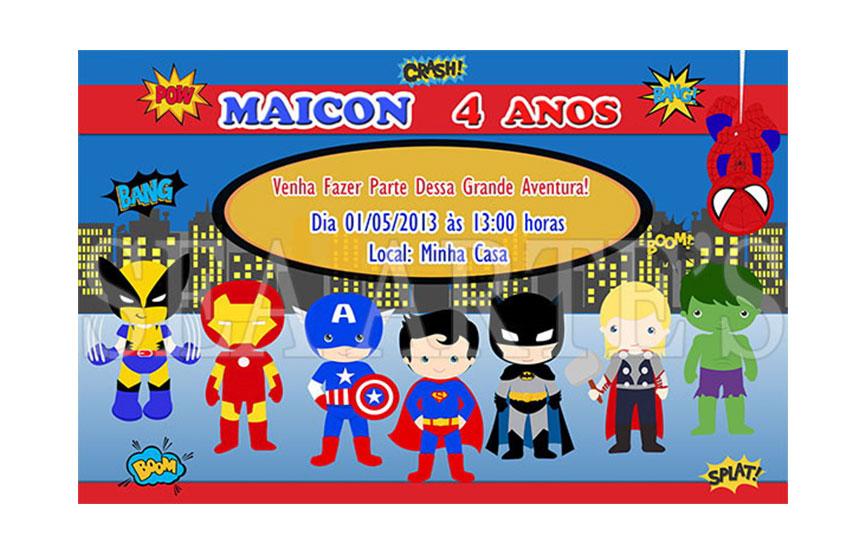Arte Convite Digital Super Heróis No Elo7 Sea Artes 4fbcdb