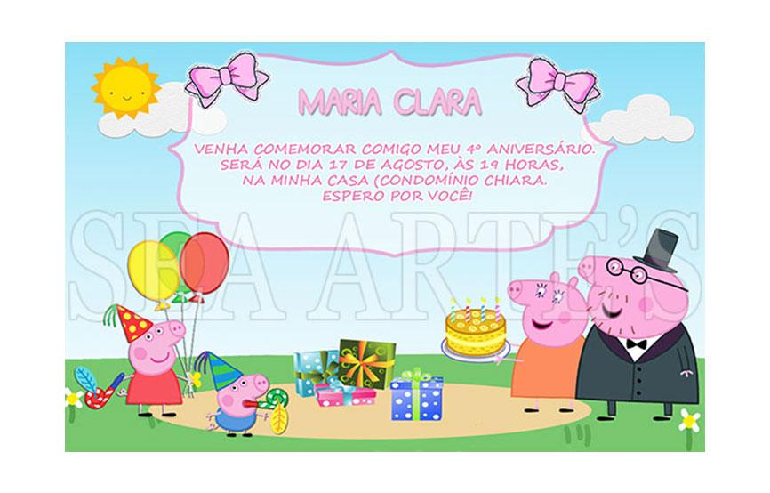 Arte Convite Digital Peppa Pig No Elo7 Sea Artes 4f84cd